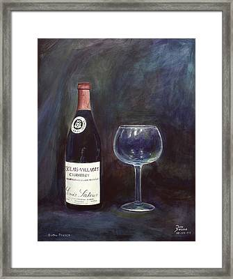 Latour Wine Buon Fresco 3 Primary Pigments Framed Print by Don Jusko