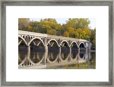 Latsch Island Wagon Bridge Framed Print