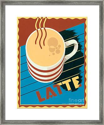 Latte Framed Print by Brian James