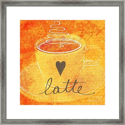 Latte Framed Print by Linda Woods