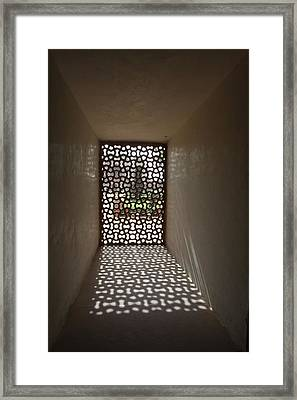 Lattice Of Light Framed Print