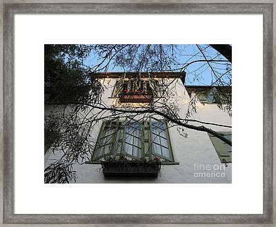 L'auberge Facade Framed Print by James B Toy