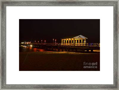 Framed Print featuring the photograph Lauderdale Fishing Pier by Les Palenik