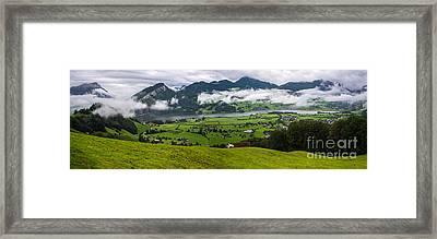 Lauerzersee Panorama - Switzerland Framed Print by Gary Whitton