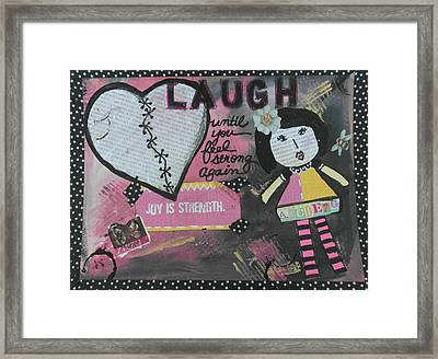 Laugh Framed Print by Debbie Hornsby