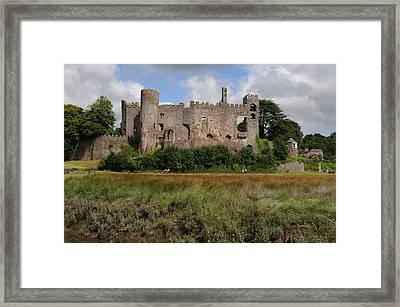 Laugharne Castle Framed Print by Jeremy Voisey