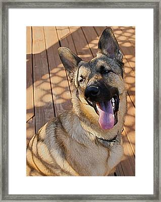 Laughing About It Framed Print