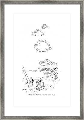 Laughing Bear Has Certainly Got It Bad Framed Print by  Alain