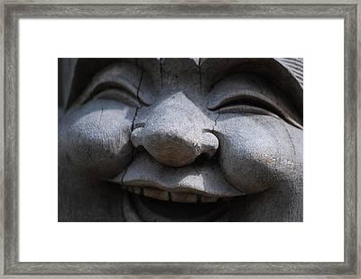 Laughing Buddah Framed Print by Bill Thornhill