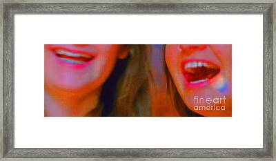 Laughing By Jrr Framed Print by First Star Art