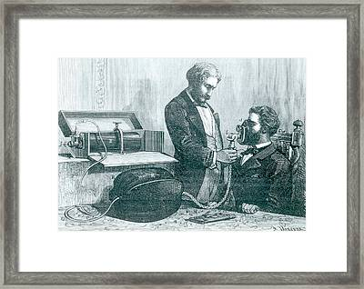 Laughing Gas Apparatus Framed Print by Universal History Archive/uig
