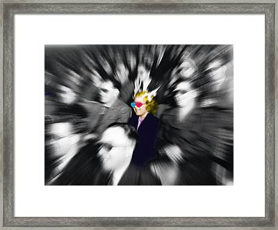 Laughing Girl At The Movies Framed Print by Tony Rubino