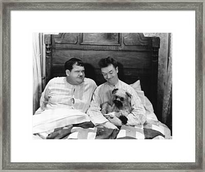 Laughing Gravy, From Left Oliver Hardy Framed Print by Everett
