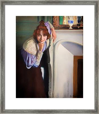 Laughing Lady Framed Print