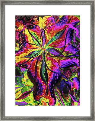 Laughing Lily Abstract Expressionism Framed Print by Georgiana Romanovna