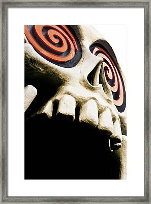 Laughing Skull - Little Five Points Framed Print by Mark E Tisdale