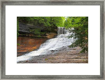 Laughing Whitefish Waterfall Framed Print