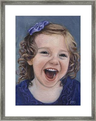 Laughter #15 Framed Print by Jean  Smith