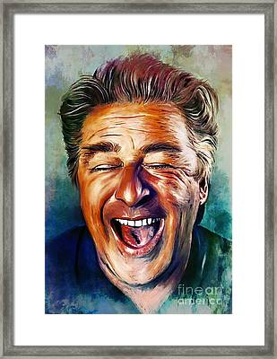 Laughter Is The Best Medicine Framed Print by Andrzej Szczerski