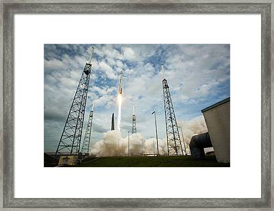 Launch Of Maven Mission To Mars Framed Print