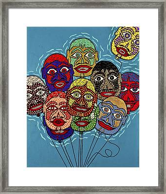 Launch Of The Airheads Framed Print by Bill NeSmith