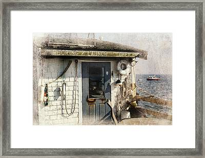 Launch Office Mcmillian Wharf Provincetown Framed Print by Bill Wakeley
