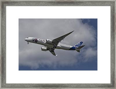 Launching Airbus A350 Framed Print