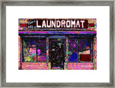 Laundromat 20130731 Framed Print by Wingsdomain Art and Photography