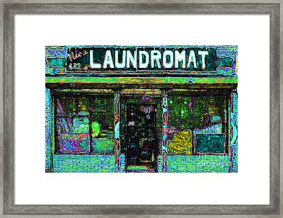 Laundromat 20130731p180 Framed Print by Wingsdomain Art and Photography
