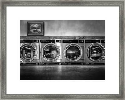 Laundromat Art Framed Print