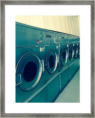 Laundromat Cross Processed Framed Print by Dan Sproul