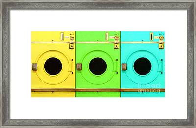 Laundromat Drying Machines Three 20130801 Framed Print by Wingsdomain Art and Photography