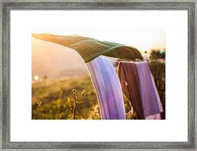 Laundry Framed Print by Aiden Kashi