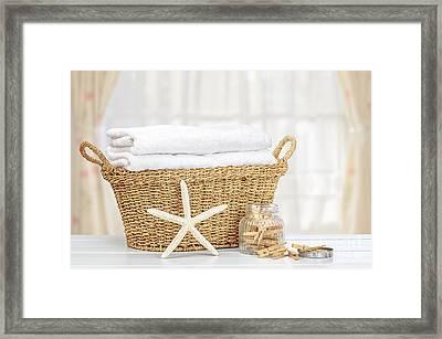 Laundry Basket Framed Print by Amanda Elwell