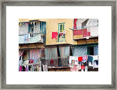 Framed Print featuring the photograph Laundry Day by Cassandra Buckley