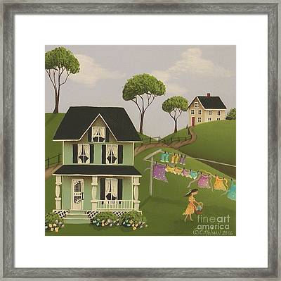 Laundry Day Framed Print by Catherine Holman