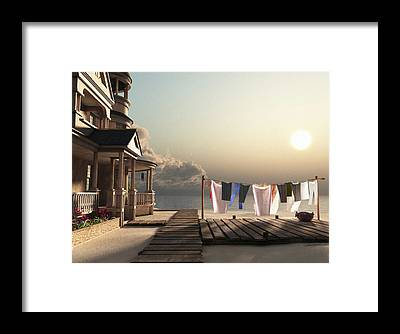 Laundry Framed Prints