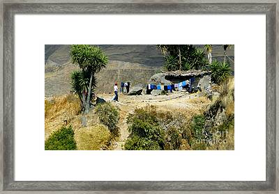 Laundry Day High In The Andes Framed Print