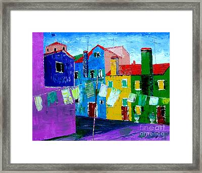 Laundry Day Framed Print by Inna Montano