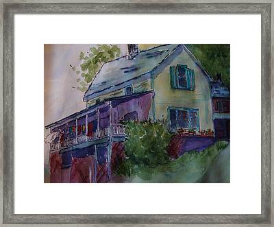 Laundry Day Framed Print by Karen McDonald
