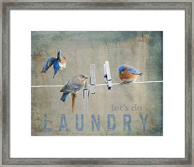 Laundry Day - Lets Do Laundry Framed Print