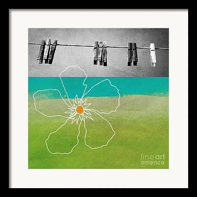 Clothespins Framed Prints