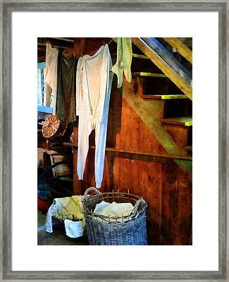 Laundry Day Framed Print by Susan Savad