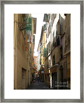 Laundry In Nice  Framed Print by Christiane Schulze Art And Photography
