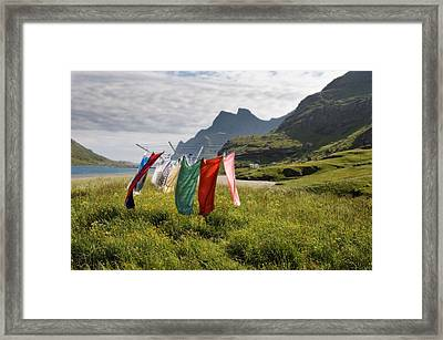 Laundry Framed Print by June Jacobsen