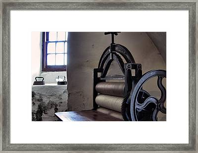 Laundry Press Framed Print