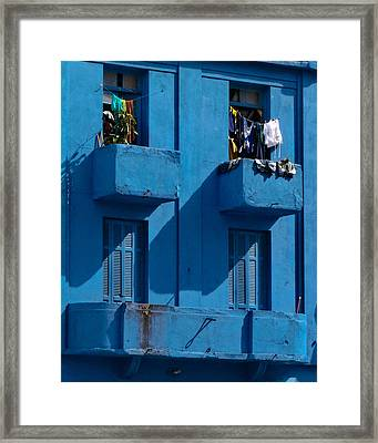 Laundry - Sao Paulo Framed Print by Julie Niemela