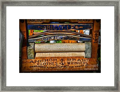 Laundry The Clothes Wringer Framed Print by Paul Ward