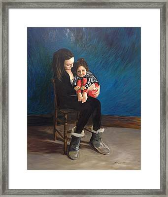 Laura And Natalie Framed Print