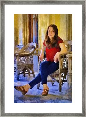 Laura Framed Print by Jeff Kolker